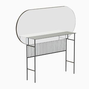 NAIVE Mirror Console Table in Black by Alex Baser for MIIST