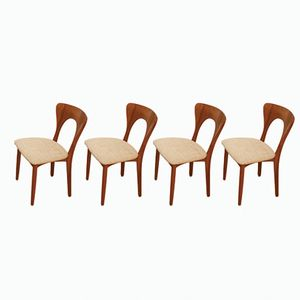 Peter Dining Chairs in Teak by Niels Koefoed for Koefoeds Hornslet, 1950s, Set of 4