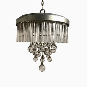 Lámpara de araña Mid-Century de cristal de Gaetano Sciolari