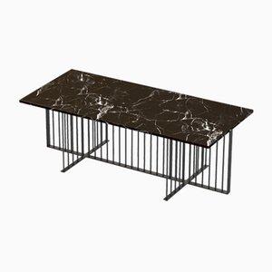 Table Basse MEISTER Noire avec Plateau en Marbre Noir par Alex Baser pour MIIST