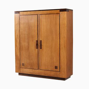 Dutch Haagse School Wardrobe in Oak by Anton Lucas, 1920s