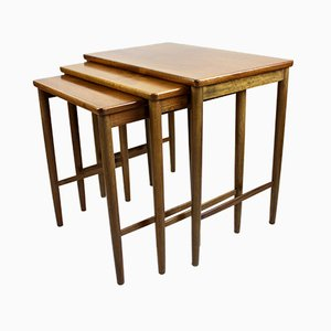 Mid-Century Walnut Nesting Tables from Opal Mobel