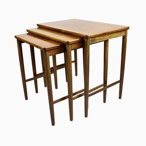 Tavolini ad incastro Mid-Century in noce di Opal Mobel