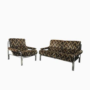 Mid-Century Alpha 2-Seater Sofa & Armchair by Tim Bates for Pieff, 1970s