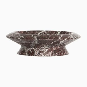 Amalthea Centerpiece in Levanto Rosso Marble by Ivan Colominas for MMairo