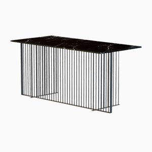 Pulverbeschichteter MEISTER Büroschreibtisch in Schwarz mit schwarzer Tischplatte aus Marmor von Alex Baser für MIIST