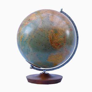 Beleuchteter Vintage Globus aus Glas von Paul Räth für Hermann Haack, 1969