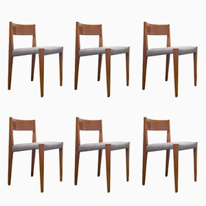 PIA Chair by Poul Cadovius for Cado, 1950s, Set of 6