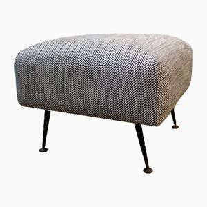 French Ottoman on Iron Legs, 1960s
