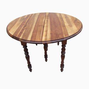 Ausziehbarer Tisch aus Nussholz, 1900er