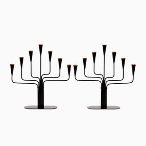 Kerzenhalter von Gunnar Ander für Ystad Metall, 1970er, 2er Set