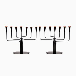 Gunnar Ander Candelabras for Ystad Metall, 1970s, Set of 2