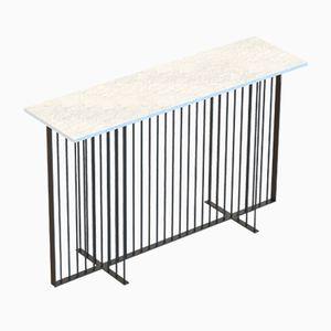 Schwarzer MEISTER Konsolentisch mit weißer Tischplatte aus Marmor von Alex Baser für MIIST