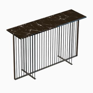 MEISTER Console Table in Black with Black Marble Top by Alex Baser for MIIST