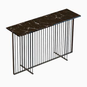 Schwarzer MEISTER Konsolentisch mit schwarzer Tischplatte aus Marmor von Alex Baser für MIIST