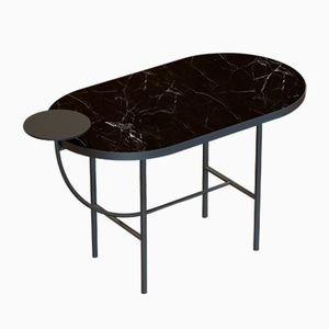 EVA Coffee Table in Black with Black Marble Top by Alex Baser for MIIST