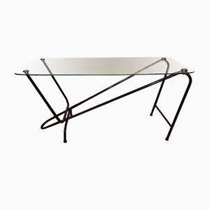 Glass & Metal Coffee Table from Airborne, 1950s