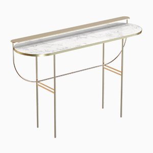 EVA Brass-Plated Vanity Table with White Marble Top by Alex Baser for MIIST