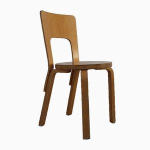 Vintage Modell 66 Stuhl von Alvar Aalto für Artek, 1960er