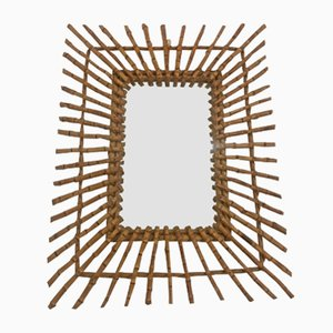 Espejo francés de bambú, años 60