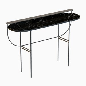 EVA Vanity Table in Black with Black Marble Top by Alex Baser for MIIST