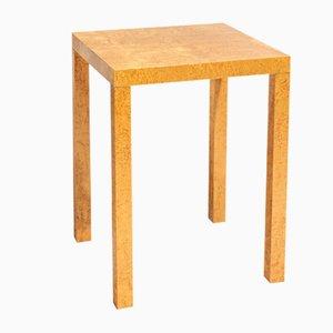Tavolo geometrico in radica, anni '80