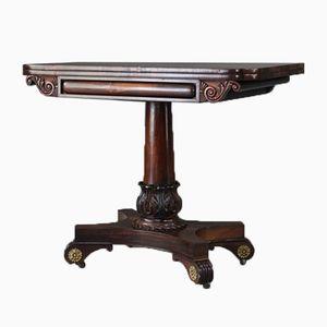 Table à Jeux de Cartes Victorien Antique en Palissandre