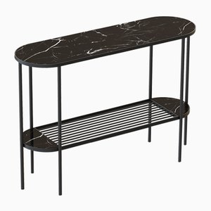 TOUCHÉ Console Table in Black with Black Marble Top by Alex Baser for MIIST