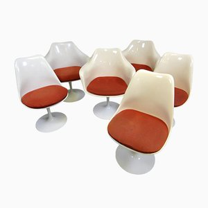 Tulip Chairs and Small Armchairs by Eero Saarinen for Knoll International, 1960s, Set of 6