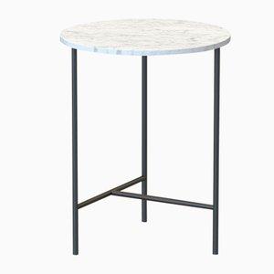 Tavolino MIDT nero con ripiano in marmo bianco di Alex Baser per MIIST