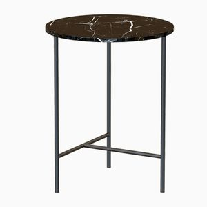 MIDT Coffee Table in Black with Black Marble Top by Alex Baser for MIIST
