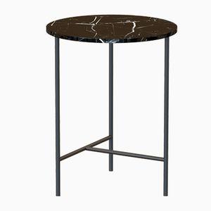 Table Basse MIDT Noire avec Plateau en Marbre Noir par Alex Baser pour MIIST