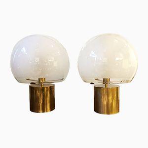 Lámparas de mesa Porcino de Luigi Caccia Dominioni fro Azucena, años 60. Juego de 2
