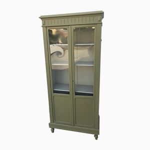 Antique Green Pine Cabinet