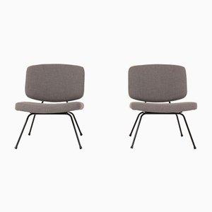 Niedrige Modell CM190 Stühle von Pierre Paulin für Thonet, 1950er, 2er Set