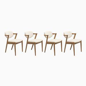 Chaises Modèle 42 par Kai Kristiansen pour Schou Andersen, 1960s, Set de 4