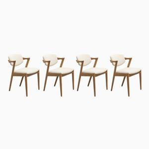 Model 42 Chairs by Kai Kristiansen for Schou Andersen, 1960s, Set of 4