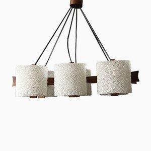 Scandinavian Teak Hanging Lamp, 1960s