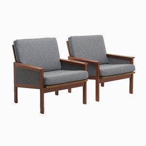 Mid-Century Capella Lounge Chairs by Illum Wikkelsø for Niels Eilersen, Set of 2