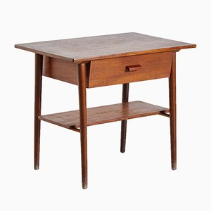 Table de Chevet en Teck, Danemark, 1960s