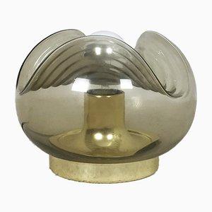 Tischlampe aus Glas in Wellen-Optik von Koch & Lowy für Peill & Putzler, 1970er