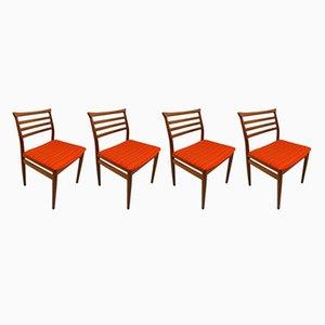 Chaises de Salle à Manger par Erling Torvits pour Sorø Stolefabrik, 1960s, Set de 4