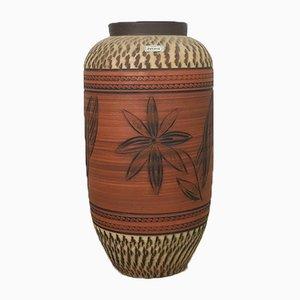 Jarrón de suelo vintage de cerámica de Decora, años 60