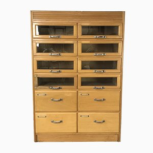 Vintage Haberdashery Oak Cabinet with 12 Drawers