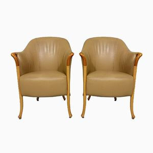 Progetti Easy Chairs from Giorgetti, 1987, Set of 2