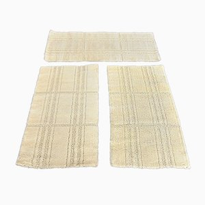 White Wool Rugs from Hojer, 1975, Set of 3