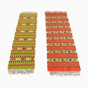 Handgewebte Berber Kelim Wollteppiche aus Wolle, 1960er, 2er Set