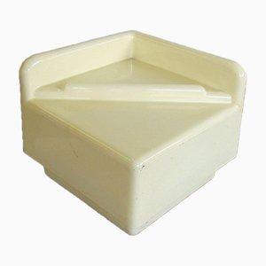 Tavolino da caffè in plastica bianca termoformata di Studio DA per Luigi Sormani, anni '70