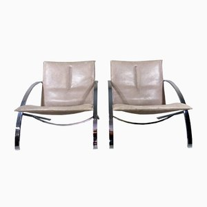 Arco Lounge Chairs by Paul Tuttle for Strässle, 1970s, Set of 2