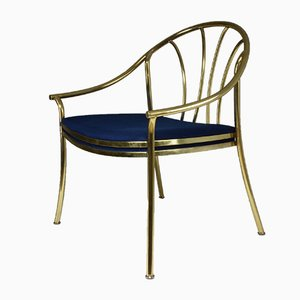 Vintage French Brass Armchair